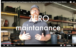 Zero Maintenance for OneCharge Li-ion Battery